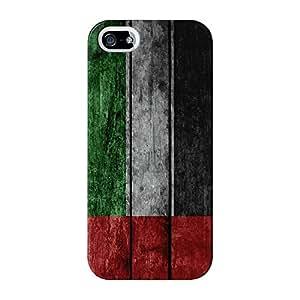 Bandera de la bandera de Emiratos Árabes Unidos–UAE de madera de Grunge Full Wrap Case Impreso en 3d gran calidad, para iPhone 5/5S de UltraFlags
