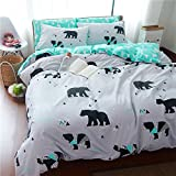 gel kitchen mats bed bath beyond TheFit Paisley Textile Bedding for Adult U1174 Green Bear Duvet Cover Set 100% Cotton, Twin Queen King Set, 3-4 Pieces (Twin)