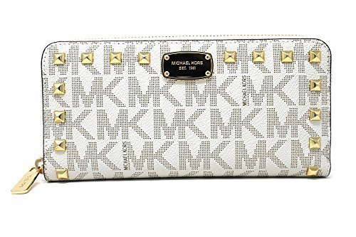Michael Kors Jet Set Item Studded Zip Around Continental Womens Wallet - Michael Gift Card Kors