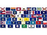 Sheet of ALL 50 US State Flags Stickers (scrapbooking assorted small set)