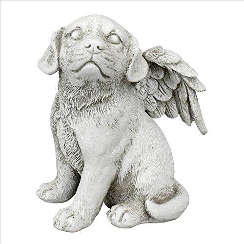 Design Toscano LY7154052 Loving Friend, Memorial Pet Dog Statue, Medium, Antique Stone
