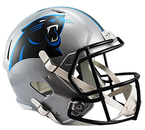 (Riddell NFL Carolina Panthers Full Size Replica Speed Helmet, Medium,)