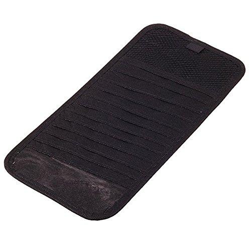 HitCar Car CD DVD Holder 12 Disc Storage Case Organizer Sun Visor Sunshade Sleeve Wallet Clips (Black Color)