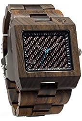 Lux Woods Wood Watch Glenwood Black Chanate Wooden Watch- Swiss Movement