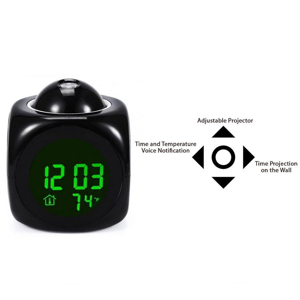 Amazon.com: SolarM Table Desk Alarm Clock Multi-Function Digital LCD Voice Talking LED Relojes Despertadores: Home & Kitchen