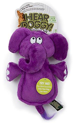 Hear Doggy Flatties with Chew Guard Technology Dog Toy, (Elephant Plush Dog Toy)
