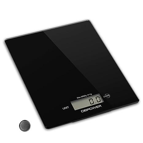 DBPOWER Báscula digital de cocina de 11lb/5000g, resolución de 0,1 oz