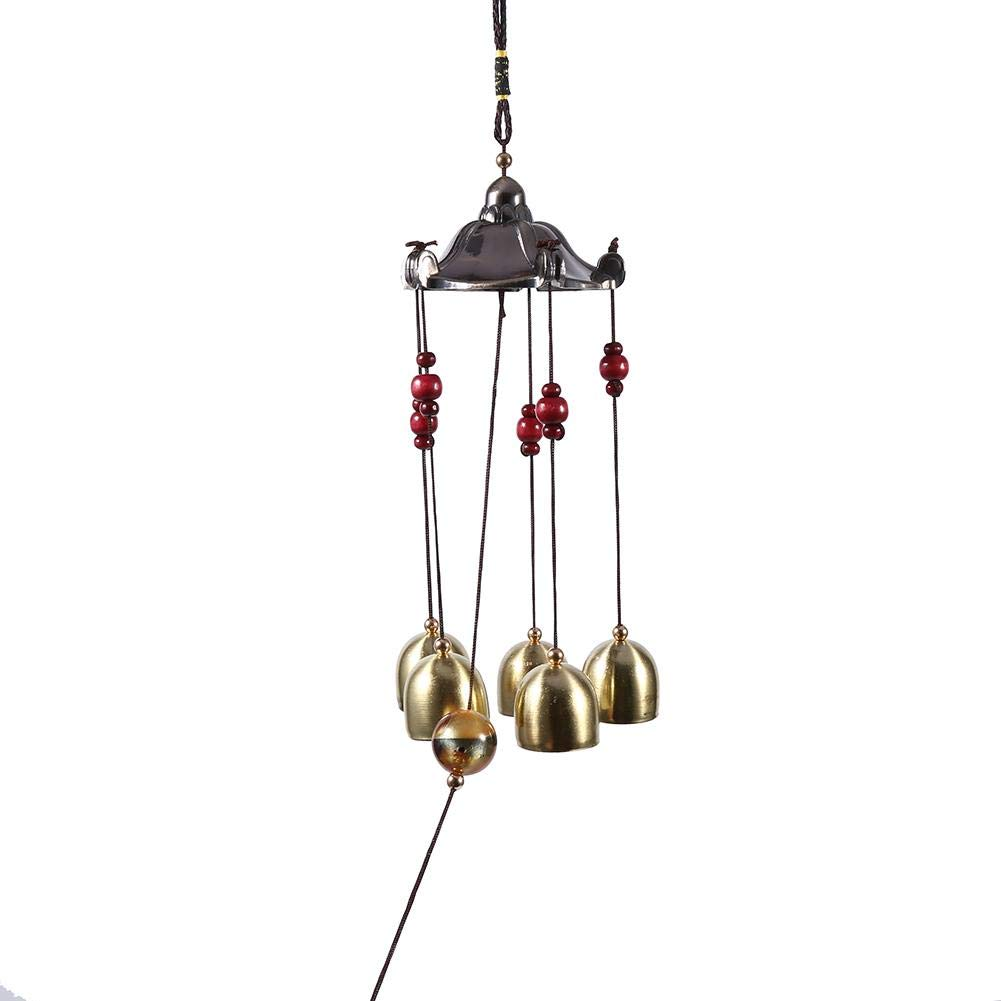 Campanas De Viento Lat/ón 5 Campanas Los Mejores Deseos Lucky Wind Bell Antioxidante Festival Cl/ásico Pabell/ón Decoraci/ón Colgante para El Jard/ín del Patio