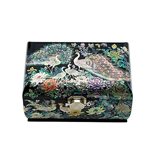 sulhwa-chilgi-mother-of-pearl-inlay-peacock-lacquer-jewelry-box-with-mirror-jewel-gift-case-organize