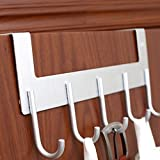 Creative Hanger Clothes Hat Stand Door Aluminum Hook Strong Load-bearing Not Fade Not Rust ( Color : Silver )