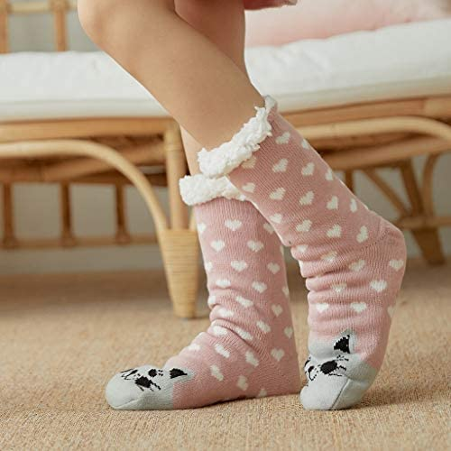 Pack of 5 Pairs Z-Chen Womens Winter Slipper Socks soft warm fuzzy
