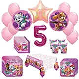 Girl Pups Paw Patrol Skye & Everest 5th Birthday Party Pack 52pc