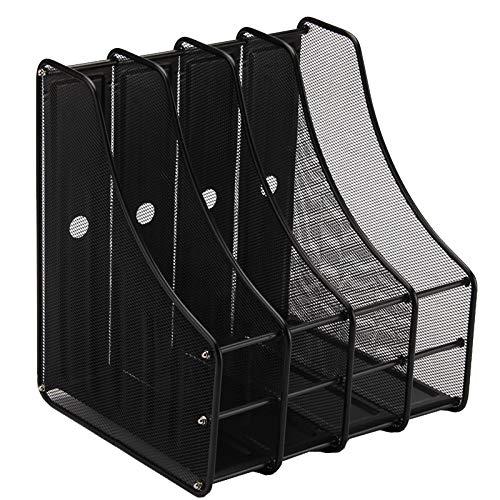PENGKE Metal Mesh Magazine File Holder Desk Book Organizer Office Accessary Black