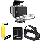 GoPro Battery BacPac for HERO3+ and HERO3 (Camera Sold Separately) With Head Strap Mount for Gopro + Floating Handle + Extra Battery Kit