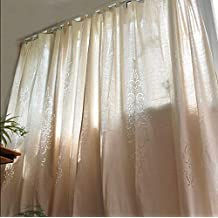 FADFAY Home Textile,Fashion Crochet Hollow Out Curtains,Modern European Shabby Style Living Room Curtain,Designer Cotton Linen Window Blinds