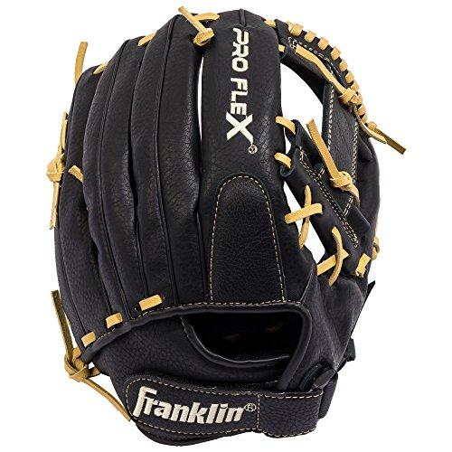 Franklin Sports Pro Flex Hybrid Series Cowhide Fielding Left Hand Glove, 13.5-Inch, - Youth Outfielders Glove Baseball
