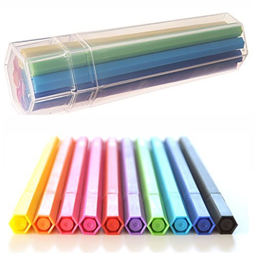 Muji Hexagonal Aqueous Ink Pen, 10 Colors Set in Tube by Muji