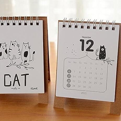 amazon com mini table calendar 2016 cute cat baymax desk