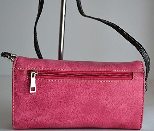 Pink Satchel Out Rhinestone Bag Messenger Floral Body Cut Purse Cross vIvqXwz