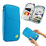 Travel Passport Holder Zipper Case Wallet Document/Card Security Credit Card ID Document Organizer Holder Bag