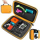 CamKix Carrying Case for Gopro Hero 4, Black, Silver, Hero+ LCD, 3+, 3, 2 and Accessories - Ideal for Travel or Home Storage - Complete Protection - Carabiner and Microfiber Cleaning Cloth Included