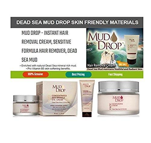 Mud Drop - Hair Removal Cream - Dead Sea Mud - Sensitive Formula - Women & Men