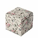 DIDIDD Sofa stool- sofa stool change shoe stool clothing store stool child receiving stool solid wood dressing stool small stool (34 34 42.5cm) --storage stool