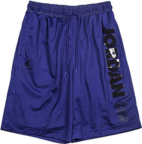 - Jordan Nike Mens Legacy Retro 11 Mesh Shorts Germain Blue/Black BQ0199-494 Size X-Large