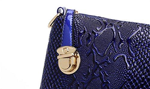 Porte à Bandoulière Show Verni Avec Assortie Main Yan monnaie Sac Bleu pièces Portefeuille à Cuir Femmes 5 Sac x1Ft4qP