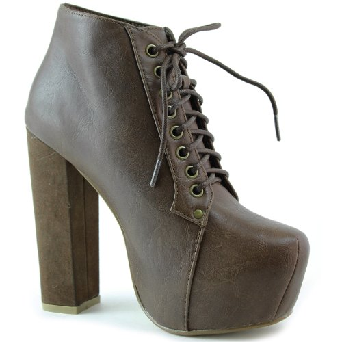 Ankle Leatherette Shoes Soft Womens Booties Modesta Brown 01 Fashion Lace Peron Up Zw6Wq04Rx