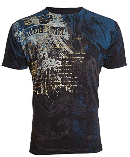 Affliction Archaic Men T-Shirt Casco Eagle Wing Tattoo Biker MMA UFC hot sale