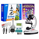 AMSCOPE-KIDS 120X-1200X Starter Kit Metal Arm Children Biological Microscope Kit + Microscope Book