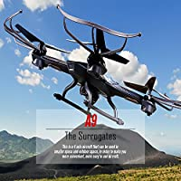 Premium Future Police Remote Control Drone RC Quadcopter, 2.4GHz 4-Channel with Gyroscope, 360 Degree Flips, Multi Flying Directions, Long flight distance and flight time, Light Weight, Great fun