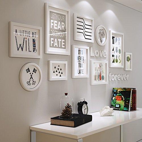 Bilderrahmen Collage Massivholz Kombination Wohnzimmer Rahmen