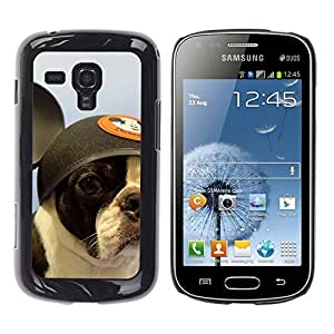 YiPhone /// Prima de resorte delgada de la cubierta del caso de Shell Armor - French Bulldog Boston Bull Terrier Dog - Samsung Galaxy S Duos S7562