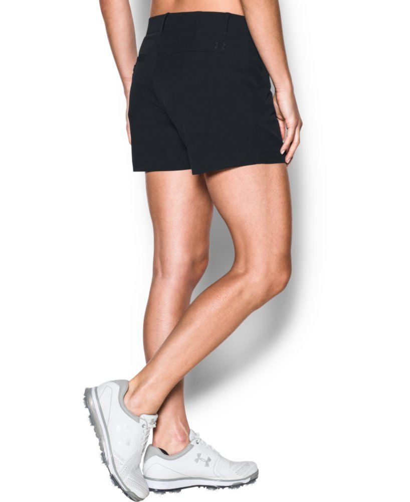 Under Armour Women's Links 4'' Shorty, Black/Black, 4 by Under Armour (Image #2)