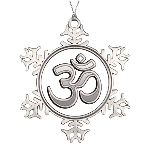 Xixitly Tree Branch Decoration om aum yoga Meditation Snowflake Ornaments Online by Xixitly