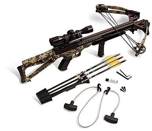 Carbon Express Covert 3 4 Crossbow Kit  Rope Cocker  3 Arrow Quiver  3 Crossbolts  Rail Lubricant  3 Practice Points  4X32 Multi Reticle Scope   Flx Digital Next Camo  New 2015 Model