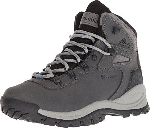 Columbia Women's Newton Ridge Plus Hiking Boot, Quarry, Cool Wave, 5.5
