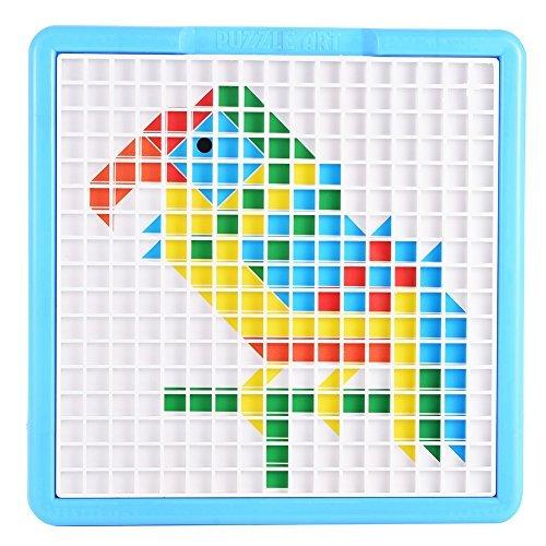 ThinkMax Mosaic Puzzle Pegboard Jigsaw Puzzle Game Puzzle Art Educationa (Mosaic Tray Puzzle)