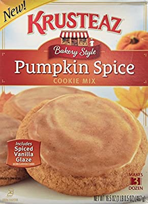 Krusteaz, Bakery Style, Pumpkin Spice Cookie Mix, 16.5oz Box (Pack of 2)