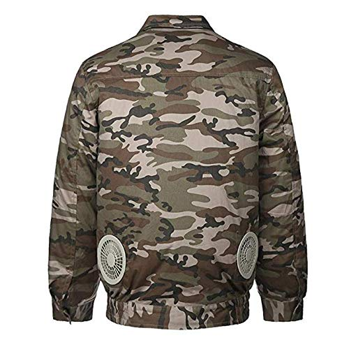 - Lithium-Ion Cordless Cotton Fan Jacket,Air Conditioning Clothes High Temperature Safety Work Clothes for Welding Fishing Hunting (XL, Camo)