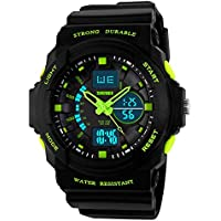 Kid LED Watch Child Boy Girl Sport Multi Function Digital Waterproof Electronic Quartz Watches Green