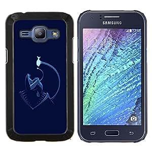 "For Samsung Galaxy J1 J100 , S-type Divertido Angler Sea Fish Monster"" - Arte & diseño plástico duro Fundas Cover Cubre Hard Case Cover"