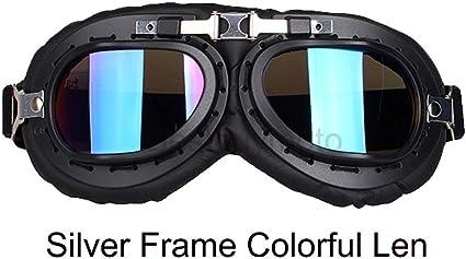 Retro Universal Foldable Motorcycle Helmet Goggles Racing Aviator Pilot Glasses