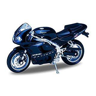 Welly Die Cast Motorcycle Silver Triumph Daytona 675, 1:18 Scale