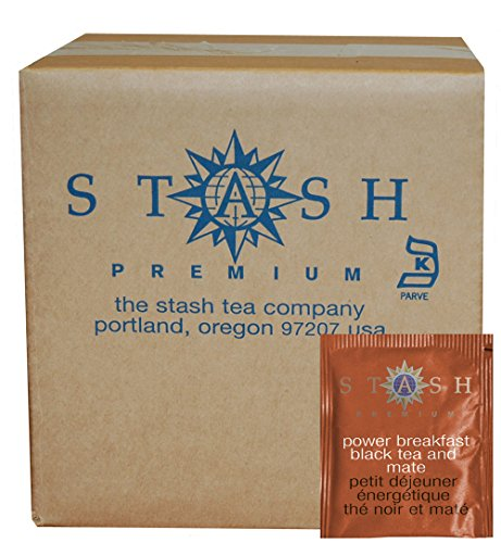 Stash Tea Power Breakfast Black and Mate Tea, 100 Count (packaging may vary) (Mate Plain Yerba)