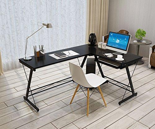 Soges L Shaped Desk Computer Desk Multifunctional Computer
