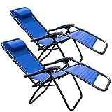 Cheap Tahoe Gear Zero Gravity Yard Lounge Outdoor Patio Lawn Recliner Chair, Blue