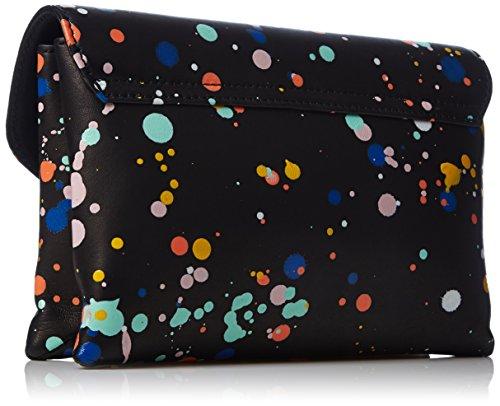Black Multi RANDALL Lock Splatter Nappa Paint Splatter Jr LOEFFLER Clutch 0dwq88f